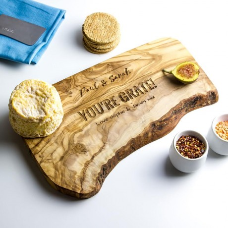 Personalised Raw Edge Cheese Board