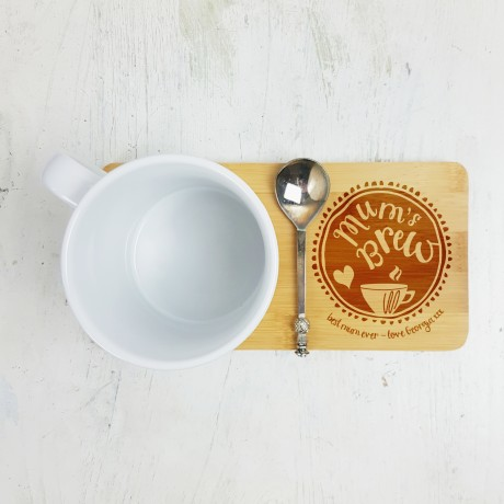 Personalised Mum's Brew Mug Coaster