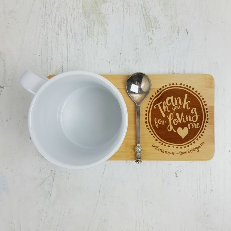 Personalised Thank you Mum Mug Coaster
