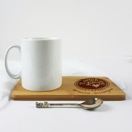 Personalised Thank you Mum Mug Coaster