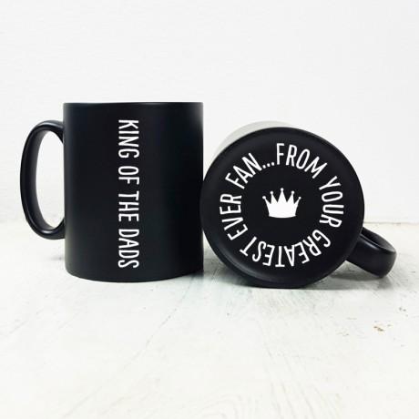 King of the Dads Carved Black Mug
