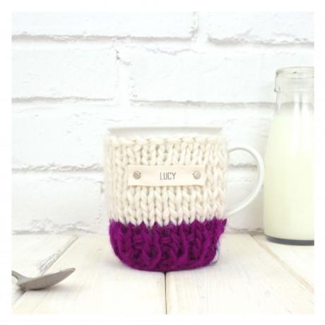 Wine Personalised Colour Block Mug Cosy