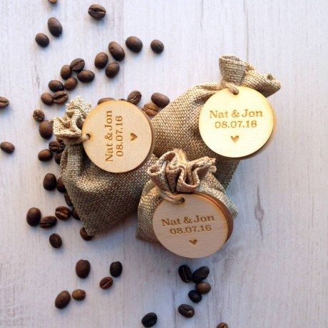 Personalised Coffee Wedding Favour