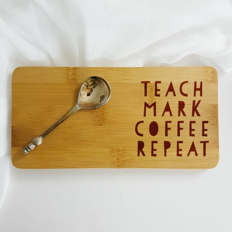 Personalised Teach Mark Coffee Repeat Gift Coaster