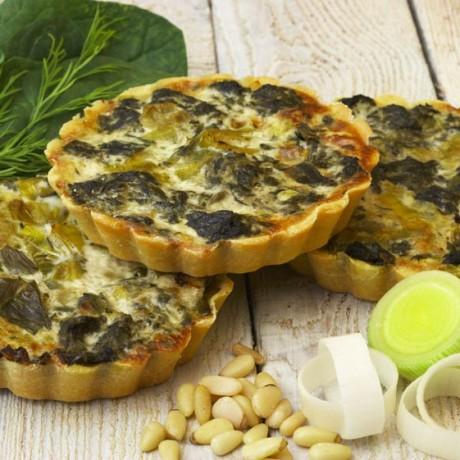 Spinach and Leek Flan (Vegan. Gluten & Dairy Free)