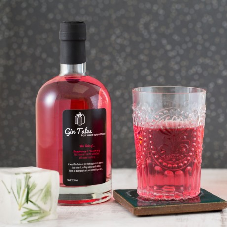 Raspberry and rosemary gin