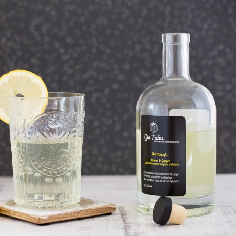 Lemon and ginger gin