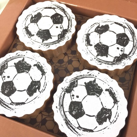 Gift Box Of Football Milk Chocolates