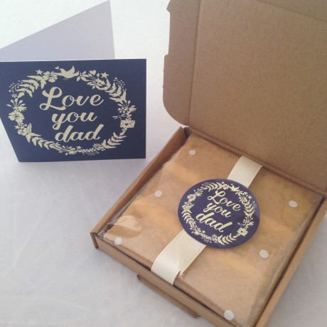 Father's Day cake card in box