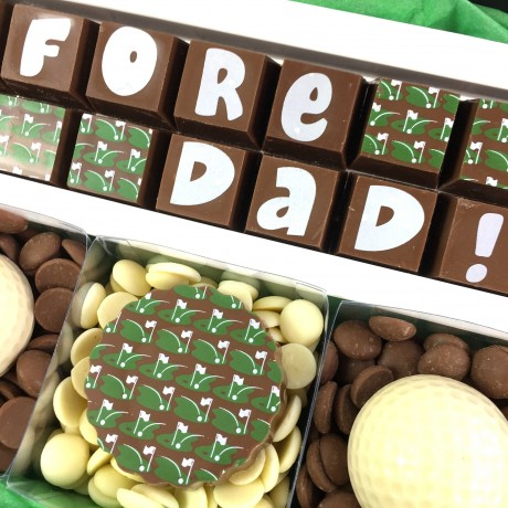 Personalised Chocolate Golf Gift Dads Fathers Day