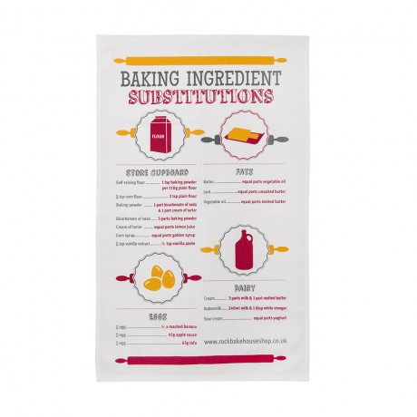 baking substitutions tea towel