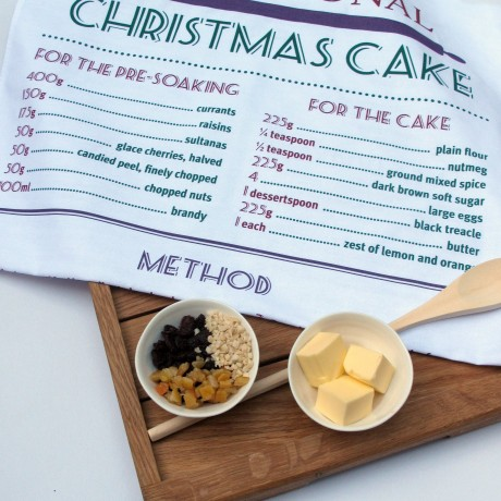 Christmas Cake Tea Towel
