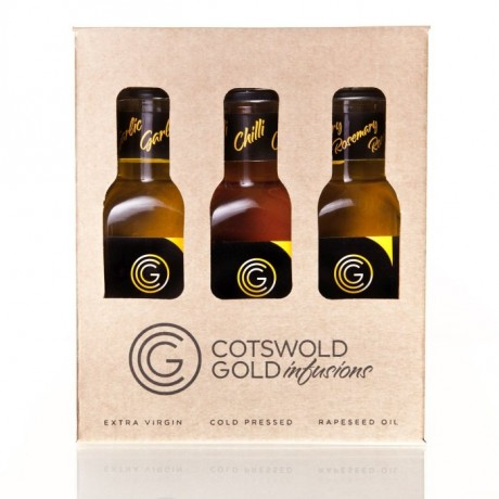 Rapeseed Oil Infusions Selection Gift Pack (Garlic,Chilli and Rosemary)