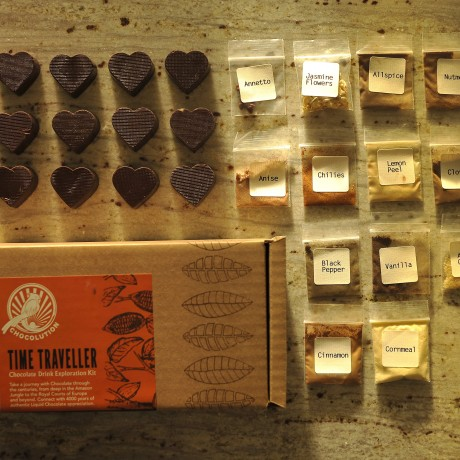 Time traveller chocolate drink kit contents