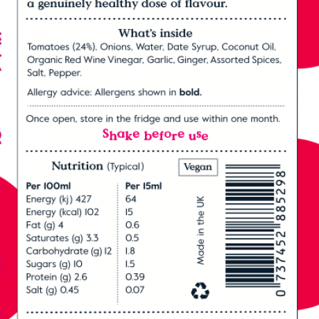 Tomato Ketchup (All Natural, Refined Sugar Free) 3 pack