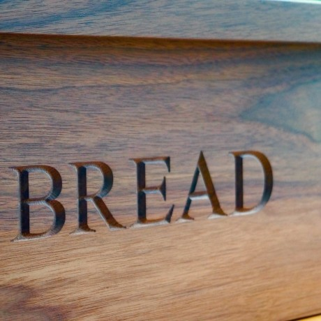 Personalised Wooden Bread Bin