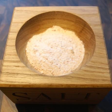 Personalised Wooden Oak Salt Bowl