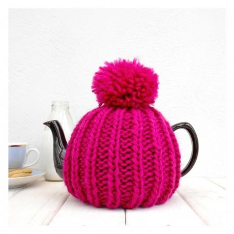 Fuchsia Pink Dorothy 6 Cup Tea Cosy