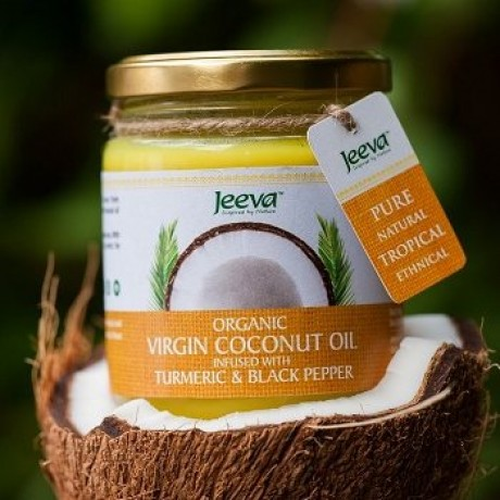 Organic Virgin Coconut Oil Infused Turmeric & Black Pepper