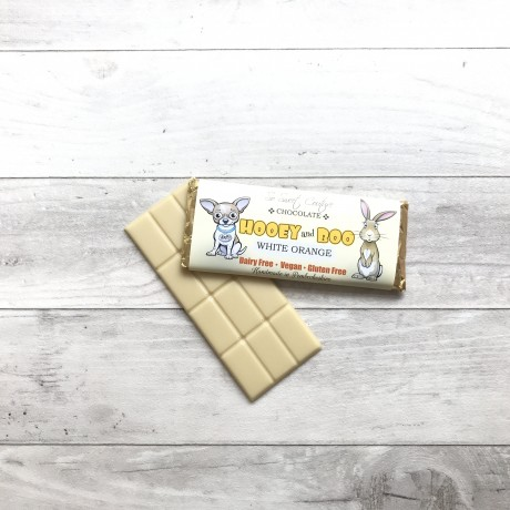 Trio of Hooey and Boo Dairy Free Childrens Chocolate Bars - White Orange