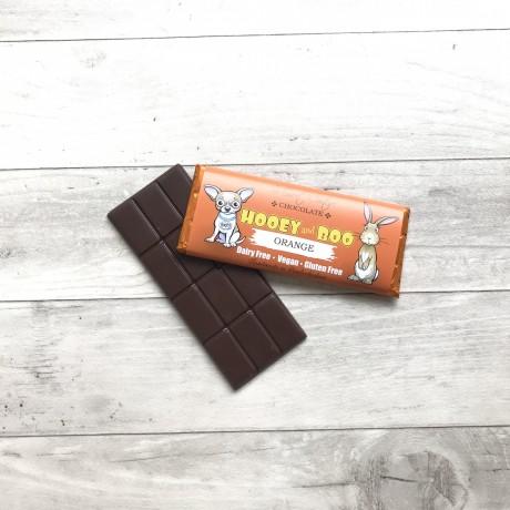 Hooey and Boo Dairy Free Childrens Chocolate Bars - Orange (3 bars)