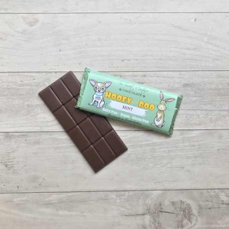 Trio of Hooey and Boo Dairy Free Childrens Chocolate Bars - Mint