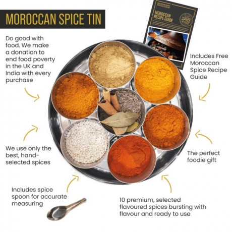 Moroccan Spice Tin with 10 Spices