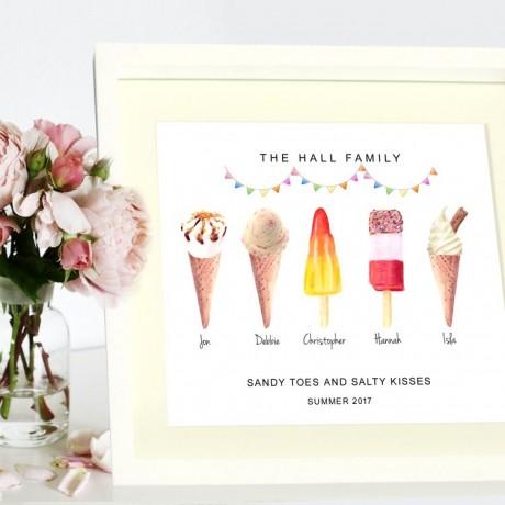 Family Ice Cream Print