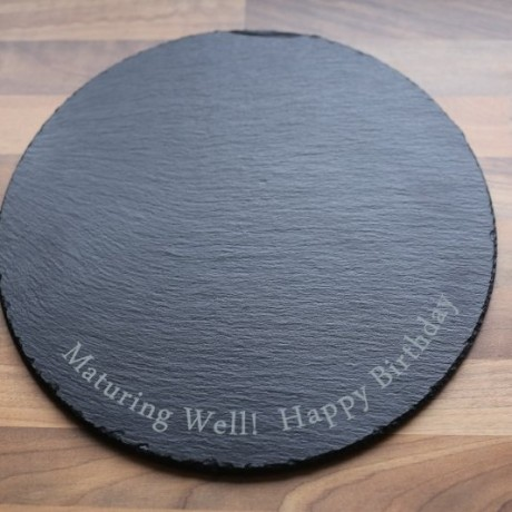 Large Round Slate Cheeseboard (Personalisation Available)