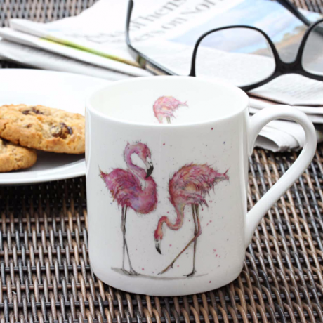 Flamingo Mug by Sarah Boddy