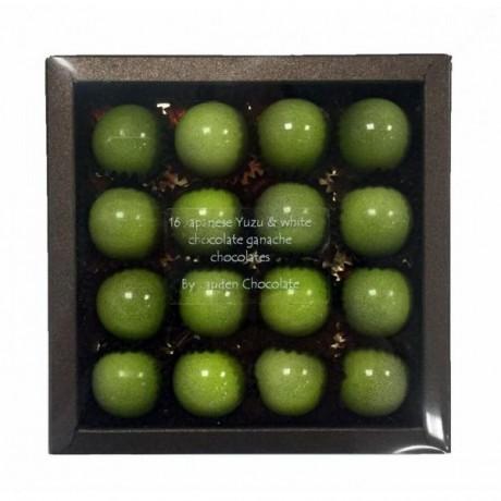 Japanese Yuzu & White Chocolate Ganache (16 Chocolates)