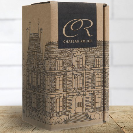 Chateau Rouge Gourmet Organic Fine Foods Gift Carton for Loose Leaf Earl Grey Tea Tin