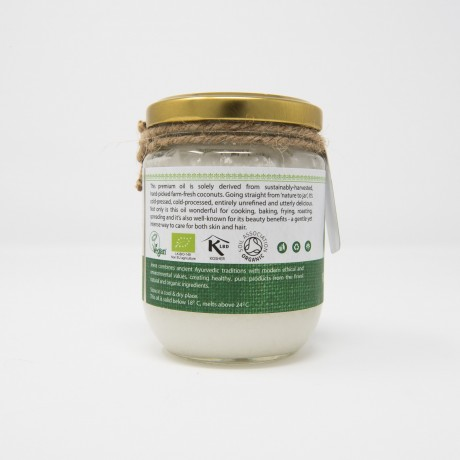 Premium Organic Raw Extra Virgin Cold Pressed Coconut Oil