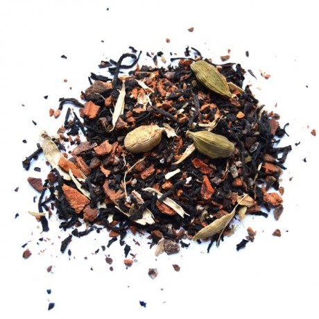 Loose-leaf Green Cardamom Chai contents of pyramid tea bags