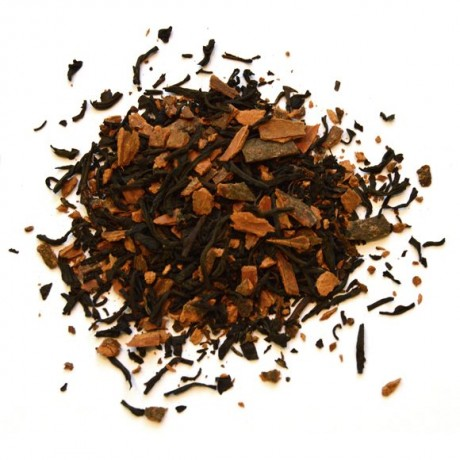 Loose-leaf Vanilla Chai contents of pyramid tea bags