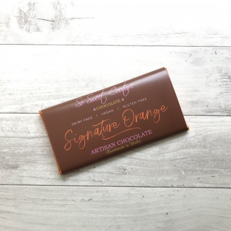 Dairy Free Alternative to Milk Chocolate Bars with Orange (3 pack)