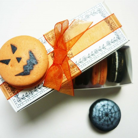 Halloween Macaron Selection Box of 5