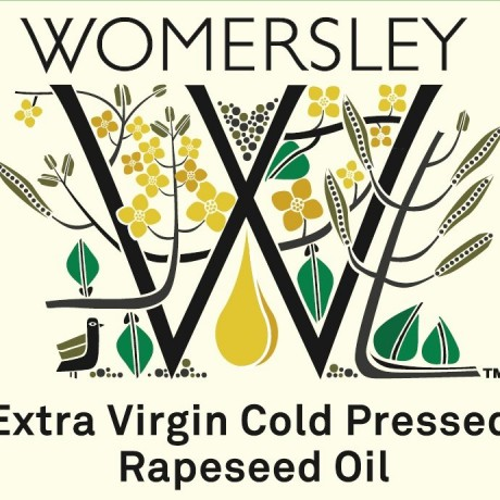 Womersley Rapeseed Oil front label