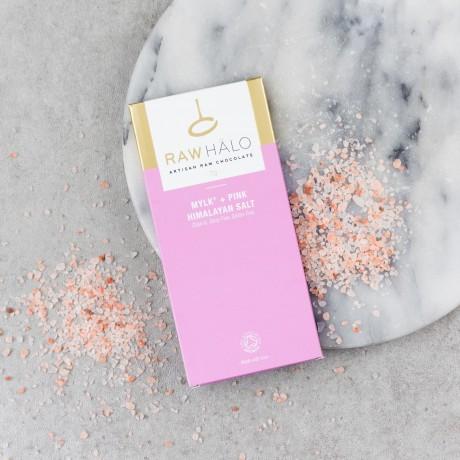 Raw Chocolate Mylk + Pink Himalayan Salt (3 x 70g)