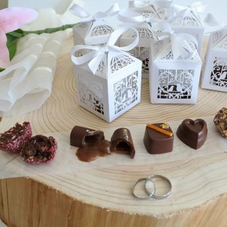 vegan chocolate favour boxes