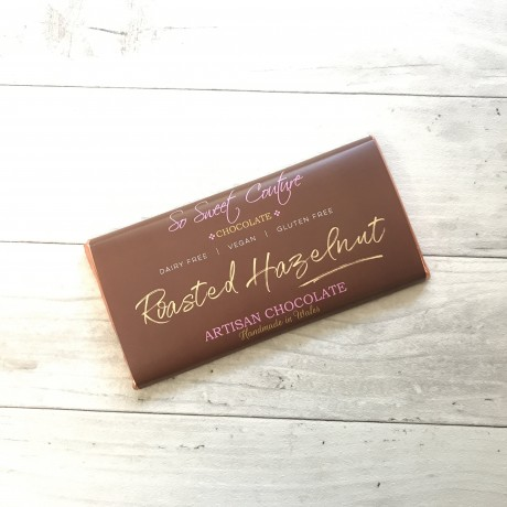 Dairy Free Alternative to Milk Chocolate Bars with Roasted Hazelnuts (3 bars)