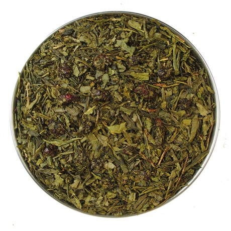 Japanese Cherry Green Tea Aerial View