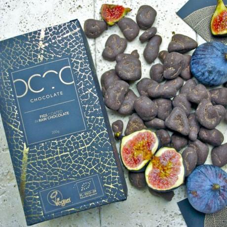Figs Coated in Raw Craft Dark Chocolate