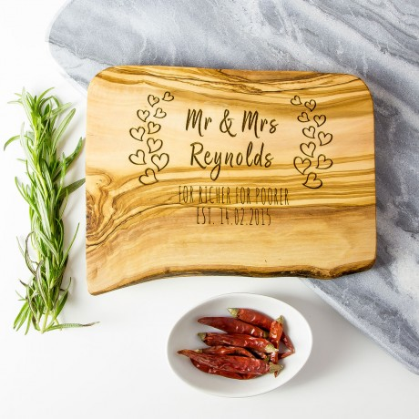 Personalised Anniversary/Wedding Chopping/Cheese Board