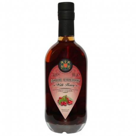 Cherry Palinka Liqueur with Honey
