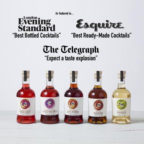 Five Mini Negroni Gin Cocktails