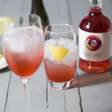 Bitter Orange, Strawberry and Ginger Spritz
