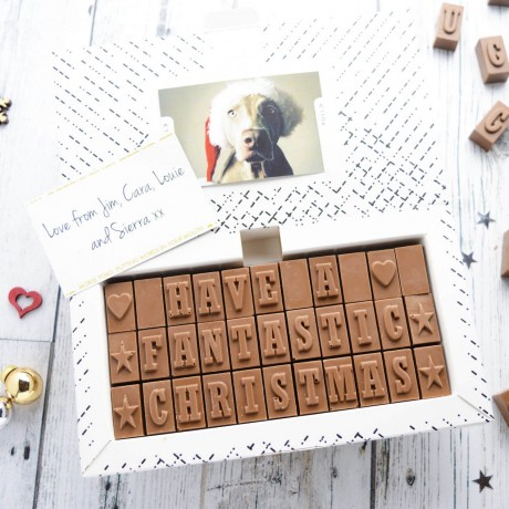 chocolate christmas card