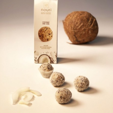 Vegan Healthy Balls Coconut & Chia