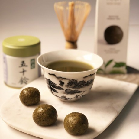 Vegan Healthy Balls Matcha Green Tea